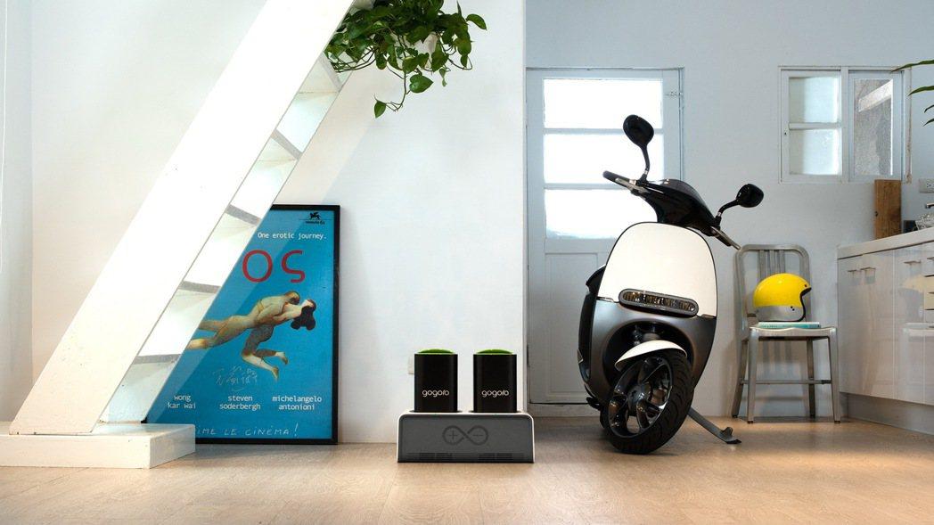 Gogoro在台南、高雄推出「Gogoro 家用充電試營運計畫」。圖/Gogor...