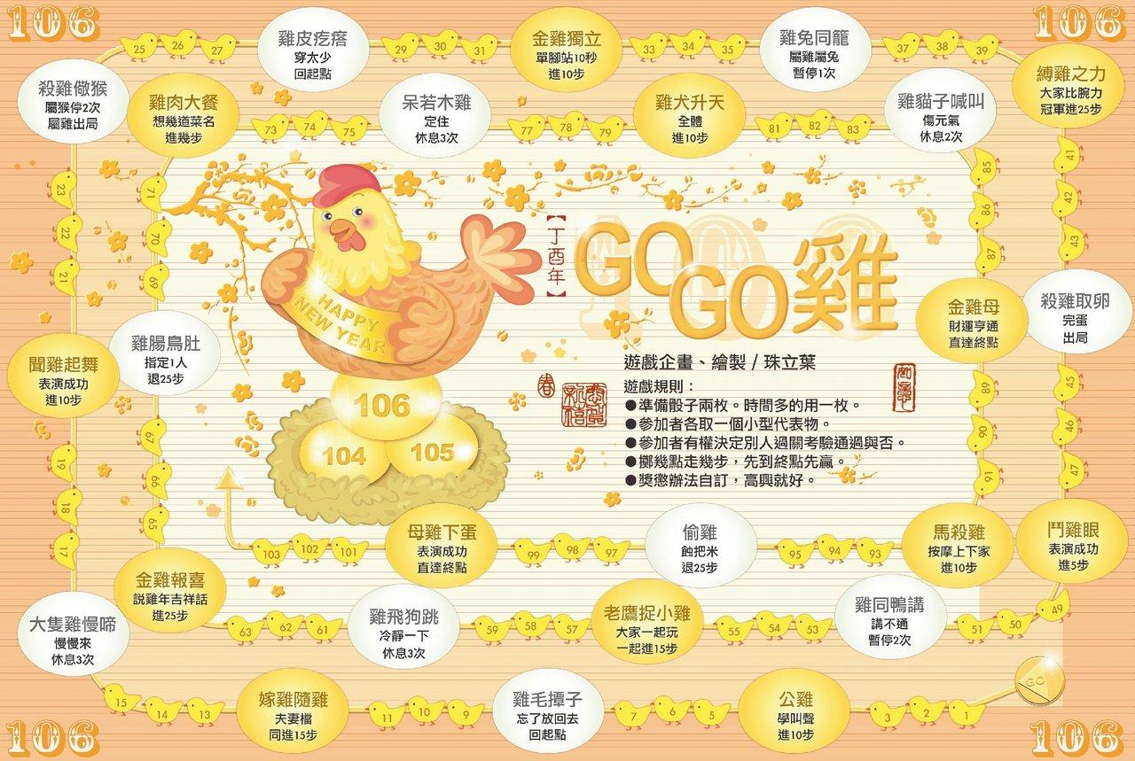 【丁酉年】GOGO雞 繪製/珠立葉