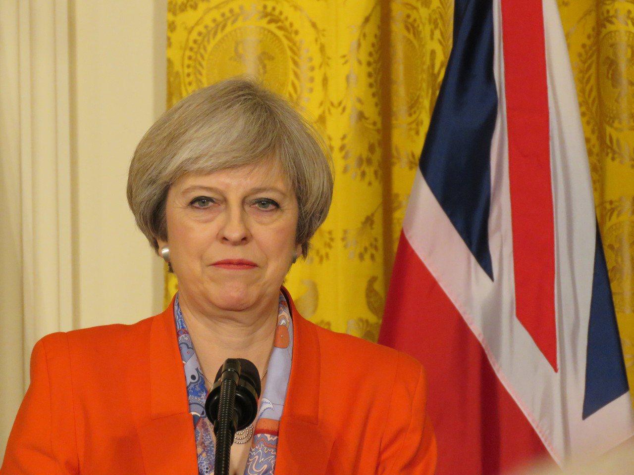 英國首相梅伊(Theresa May)。聯合報系資料照片