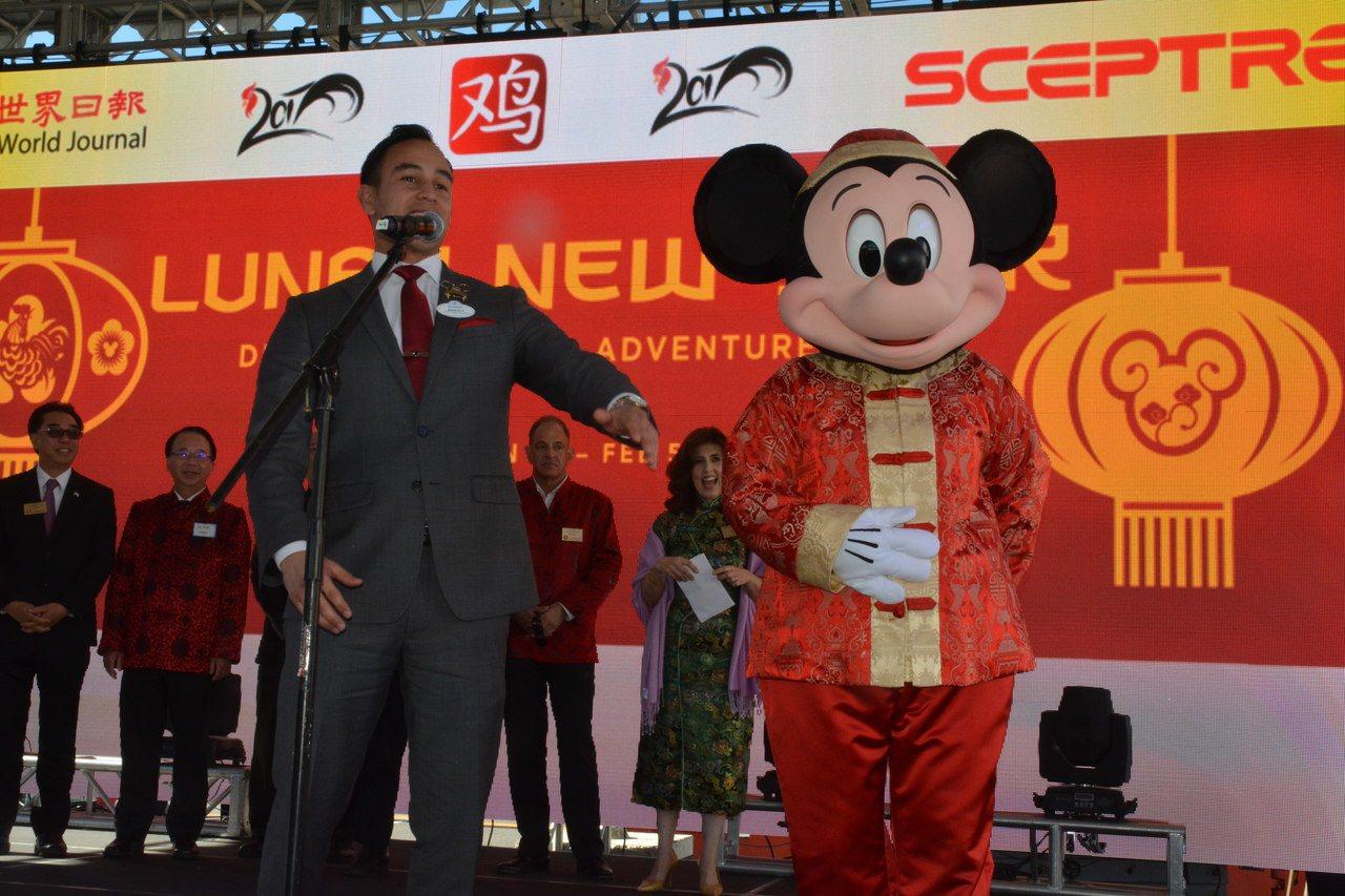 來自世界上最快樂的地方、迪士尼樂園的米奇老鼠和迪士尼2017形象大使Mikey大...