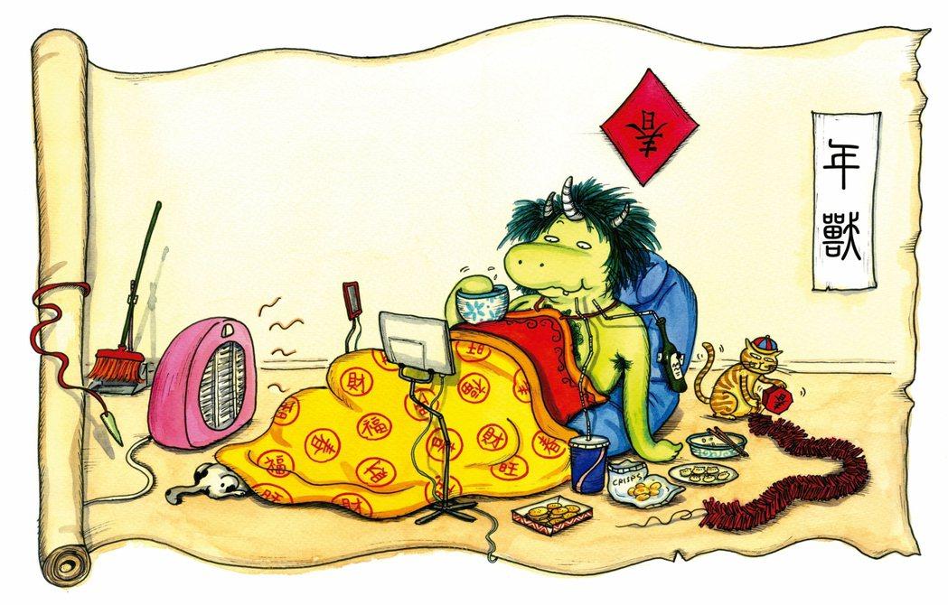 根據古老傳說,再加上小時候讀過的故事,年獸應該是住在深山裡,到過年時才肚子餓,下...