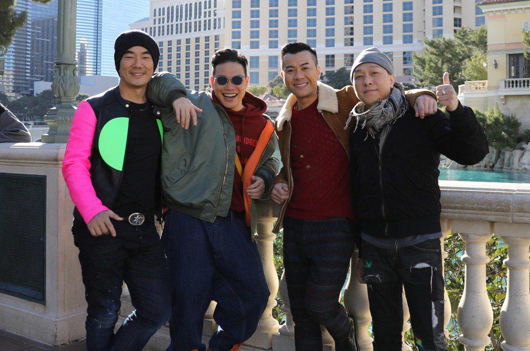 男人幫在美國賭城開唱。圖/寰亞提供