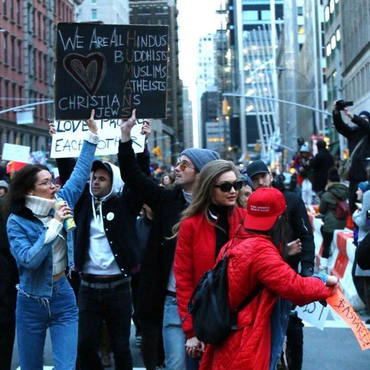美國當紅人氣名模Gigi Hadid和妹妹Bella Hadid現身在29日於紐...