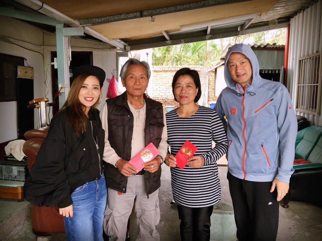 黃美珍帶老公兒子回娘家。圖/上行娛樂提供