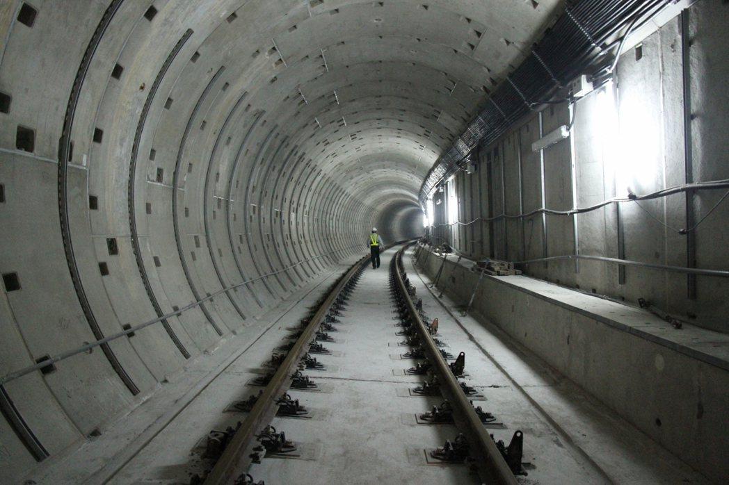 「桃園機場捷運線三重站至台北站間」工程隧道。圖/聯合報系資料照