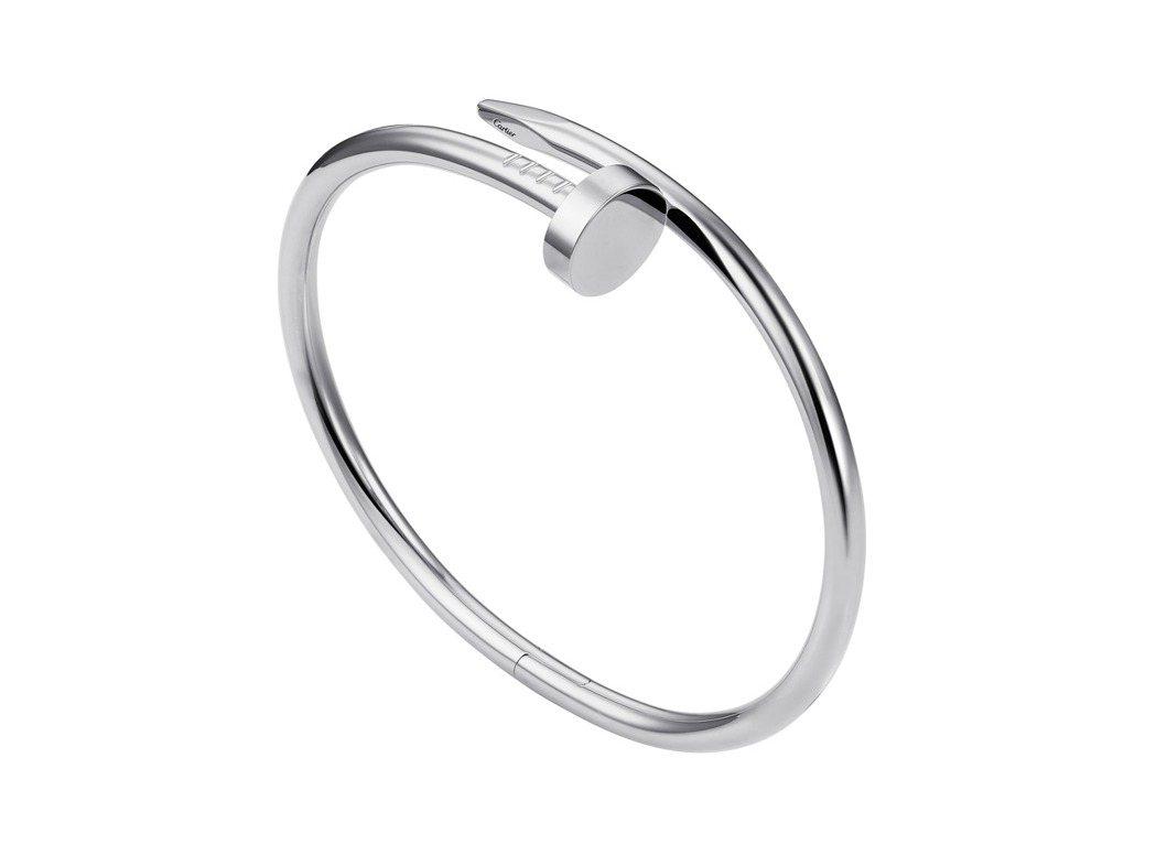 Juste un Clou系列白金手環,約22萬4,000元。圖/卡地亞提供