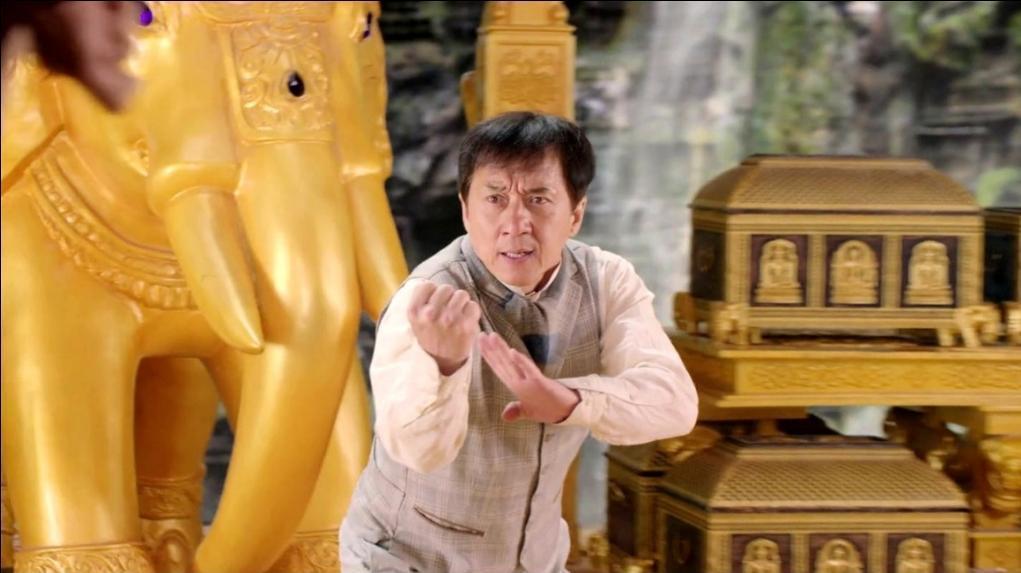 成龍主演的電影「功夫瑜伽」,成為中國大陸春節檔電影票房熱賣的主力之一。 圖/龍祥