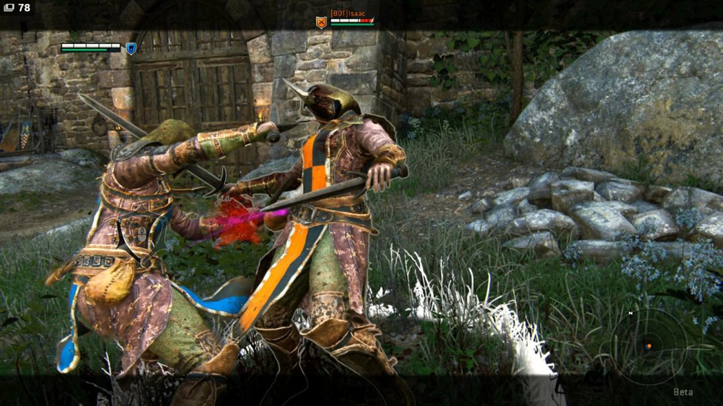這三下出血匕首,很有格鬥遊戲偷摔的感覺。