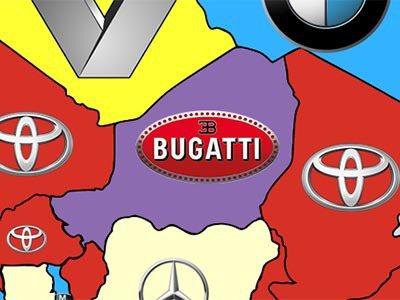 非洲國家尼日搜尋度最高的品牌是超跑商Bugatti。 Quickco提供