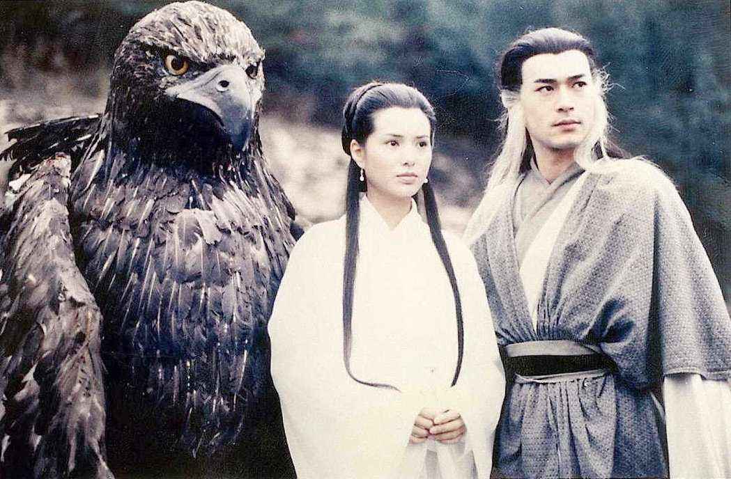 古天樂(右)、李若彤(左)所合演的「神鵰俠侶」。 圖/報系資料照