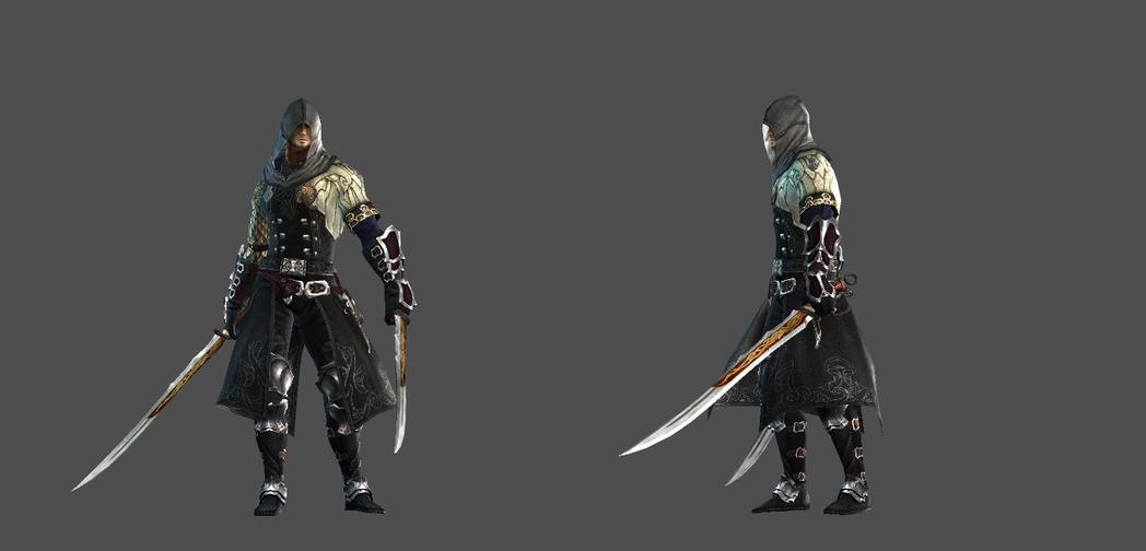 「刺客」赫斯珀裡亞遊戲中的角色設定圖