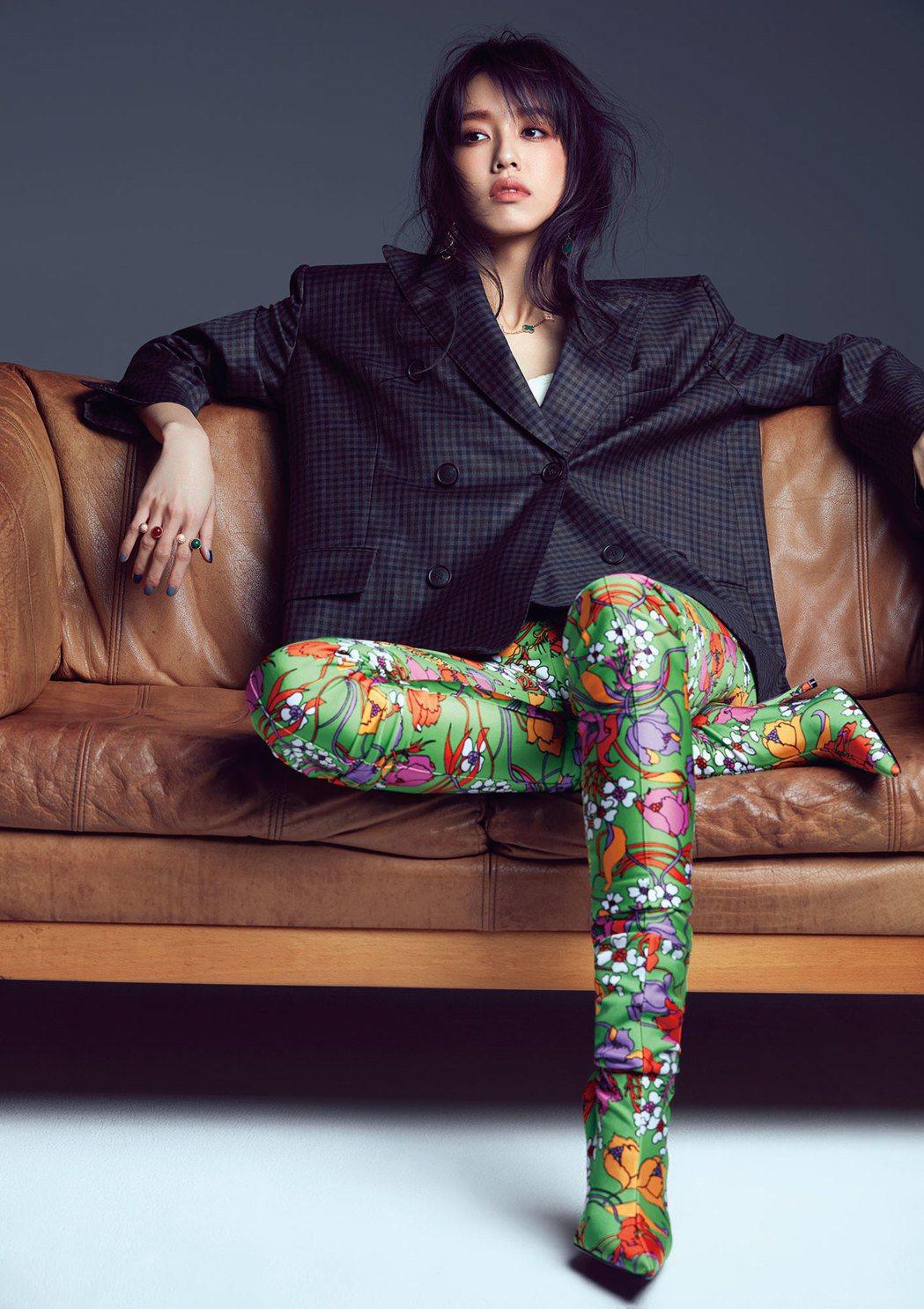 陳庭妮接受時尚雜誌訪問。圖/美麗佳人提供