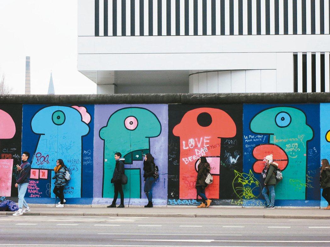 柏林圍牆。 攝影/李進文