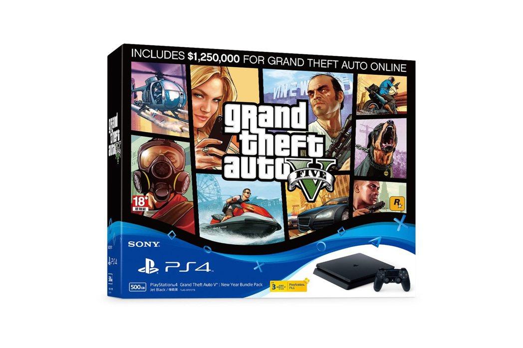 PS4俠盜獵車手5新年享樂同梱組。圖/露天拍賣提供