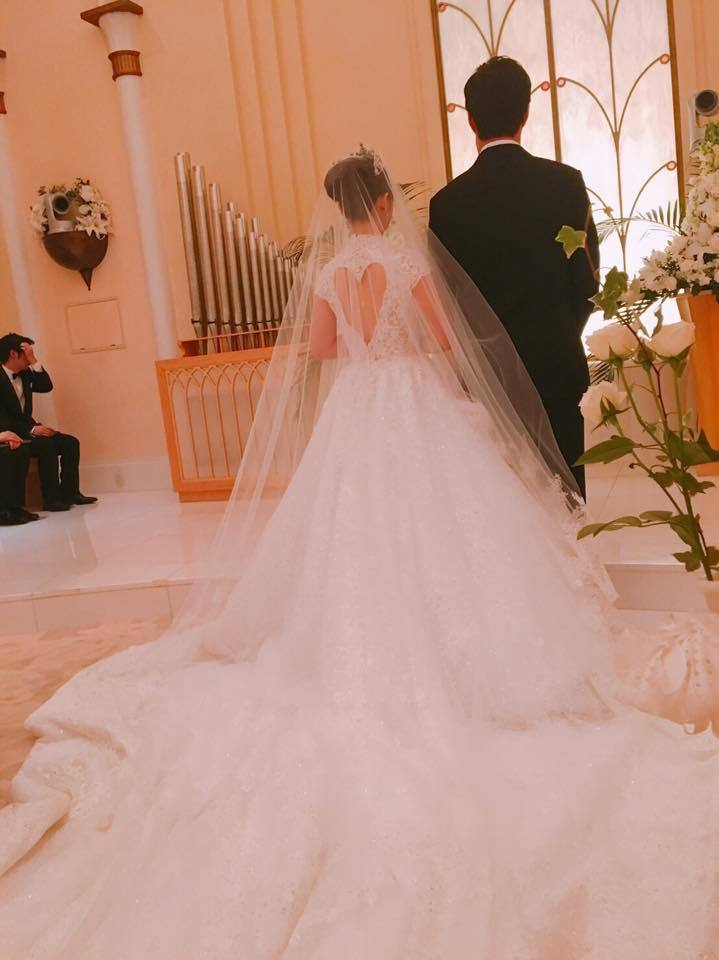 台日桌球名將江宏傑與福原愛5日在東京迪士尼大飯店舉行婚宴。 圖/擷自臉書。