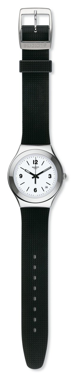 Swatch就是 Swatch 系列洗鍊黑男表,2,850元。圖/Swatch提...