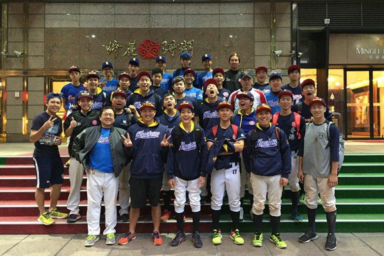 香港代表隊在色川冬馬帶領下,前往台灣高雄進行移地訓練。 圖/取自japan-baseball