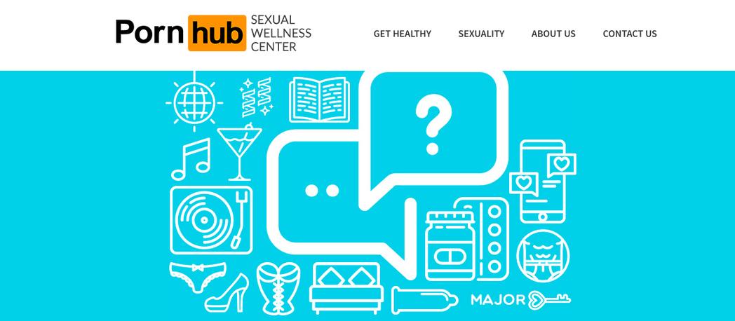 圖擷自Pornhub Sexual Wellness Center