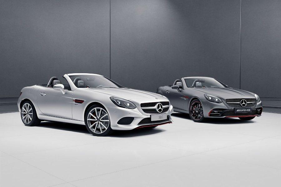 趕在歐洲春季發表之前,Mercedes-Benz 近日推出 SL designo Edition、SLC RedArt Edition 特仕車。圖為 SLC RedArt Edition 兩款車色照片。 摘自 Mercedes-Benz