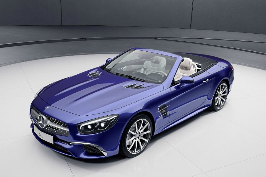 SL designo Edition 套件可供 SL 400 與 SL 500 車型使用。 摘自 Mercedes-Benz