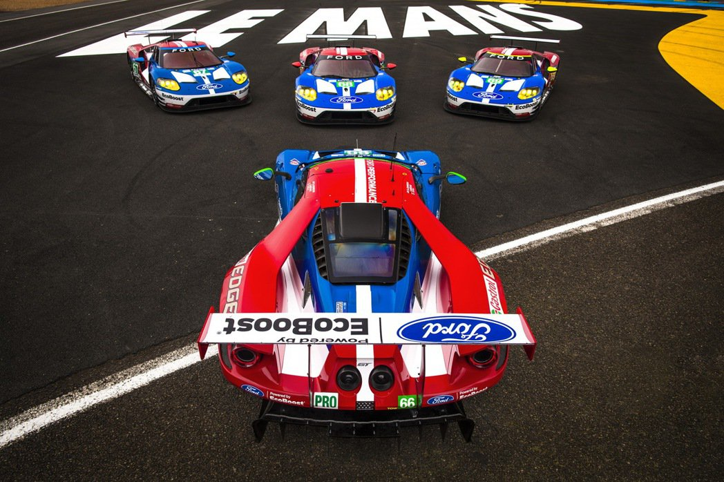Ford Chip Ganassi Racing 車隊的4台Ford GT賽車將...