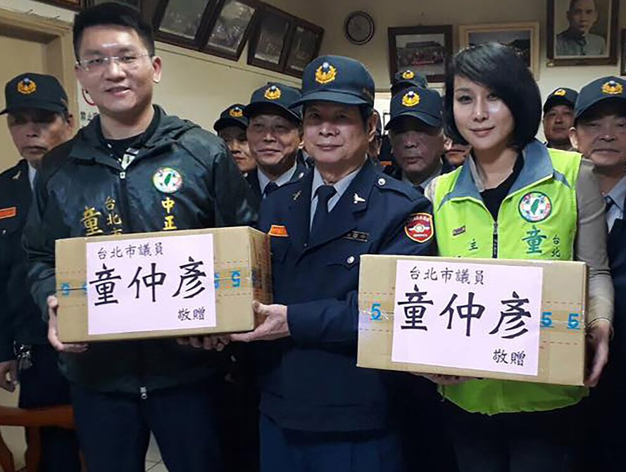童仲彥(左)與緋聞對象邱惠美(右)。 圖/取自台灣阿童-童仲彥臉書