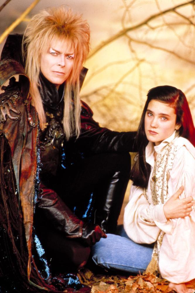 大衛鮑伊與珍妮佛康納莉是「魔王迷宮」男女主角。圖/摘自Cineplex