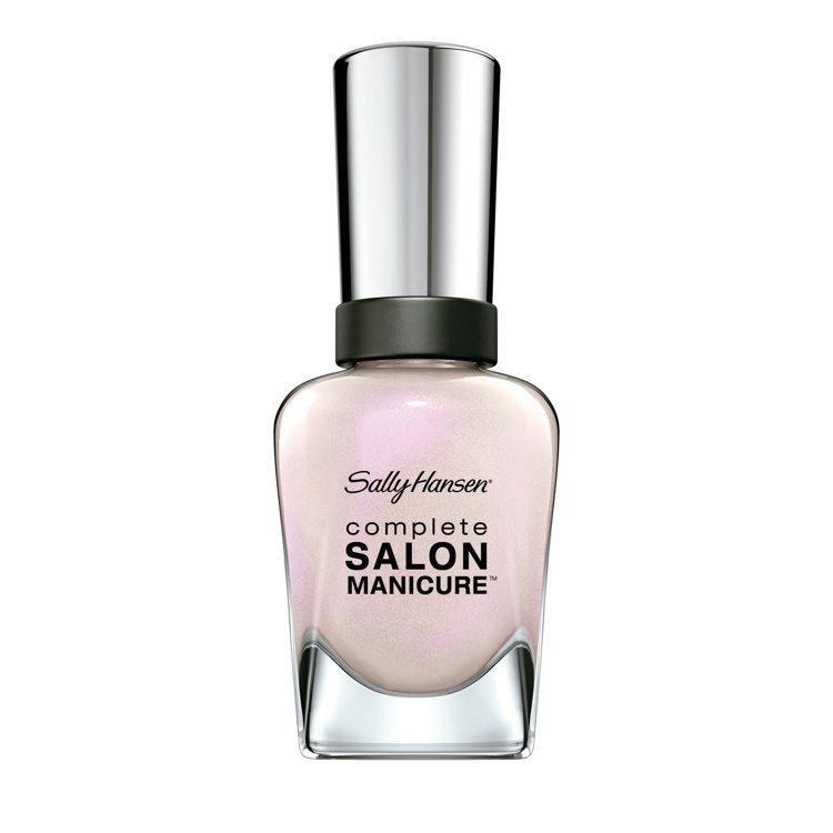珠光色指甲油不論單一上色或是混搭都別具風味,圖為莎莉韓森沙龍級養護甲彩釉#120...