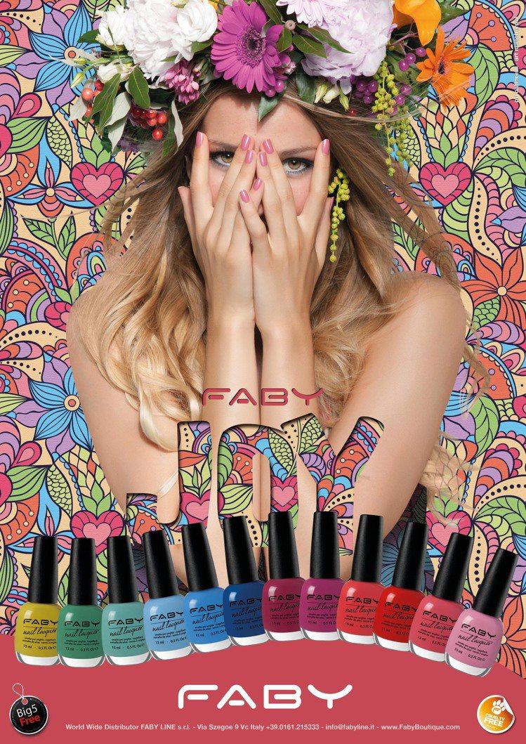FABY JOY Collection歡樂時光系列共有12色繽紛色調指彩,單價4...