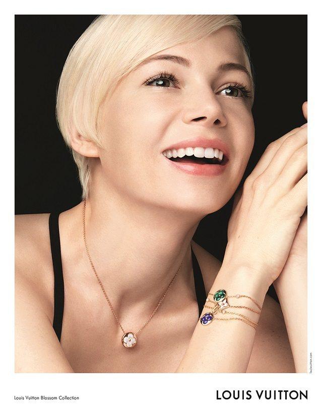 蜜雪兒威廉斯是首位為LV珠寶系列拍攝形象廣告的女星。圖/LV提供