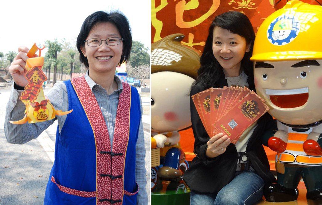 曹啟鴻的簡任祕書曾美玲(左)、祕書林淑惠(右)。 本報系資料照