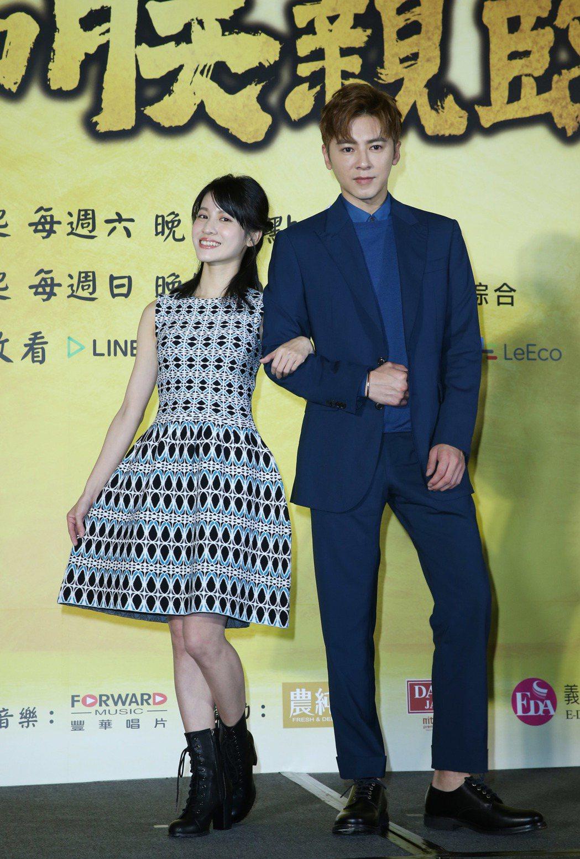 李國毅(右)與連俞涵(左)一同演出《如朕親臨》卻傳出不合。 圖/聯合報系資料照