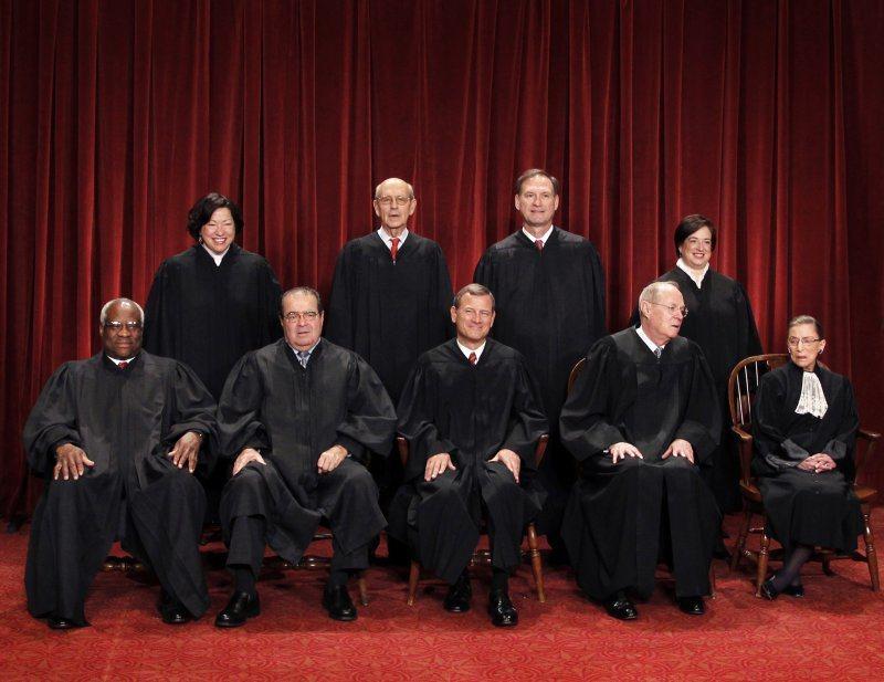 美國九位大法官。 圖/美聯社