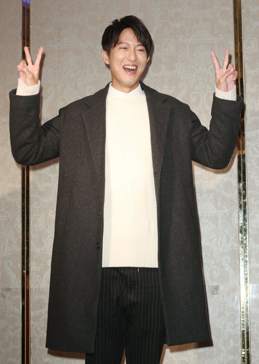 達騰娛樂春酒中午在華漾飯店舉行,藝人邱昊奇出席。記者陳正興/攝影