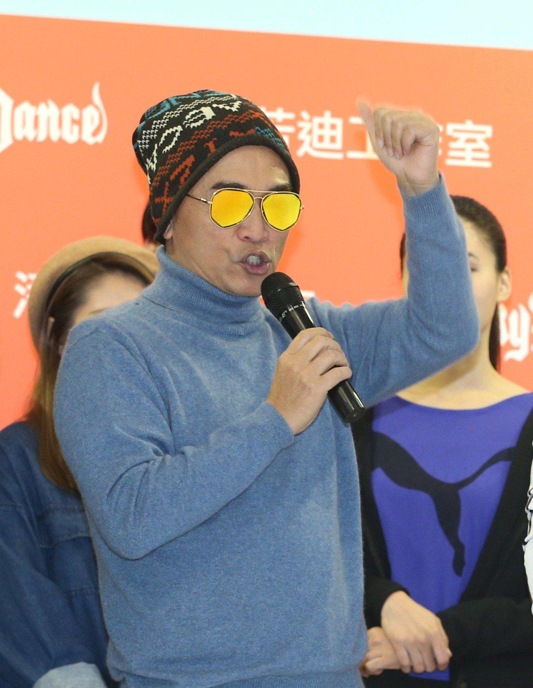 潘若迪有氧教室開幕,吳宗憲(圖)站台。記者陳瑞源/攝影