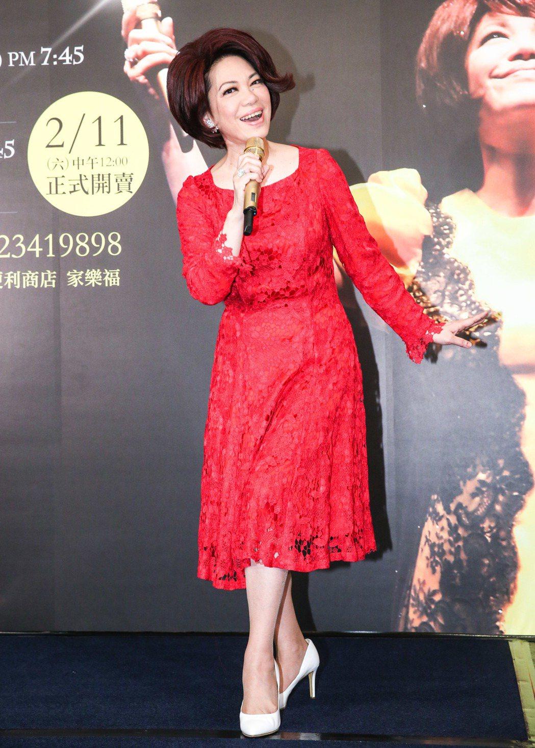 蔡琴將舉行「百萬精華」演唱會。記者鄭清元/攝影