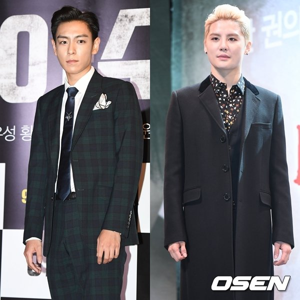 T.O.P和金俊秀今天同期入伍。 圖/擷自OSEN
