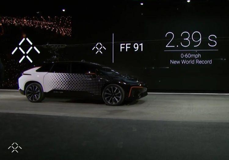 先前以零百加速 2.39 秒成績技壓 Tesla 的 Faraday FF 91,現在又被 Tesla 刷新紀錄了。 摘自 Faraday Futur