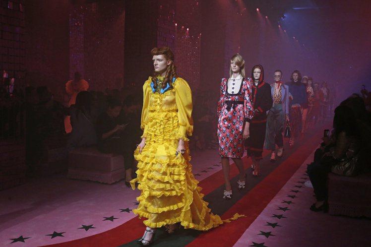 Gucci春夏推出許多蛋糕裙單品。圖/Gucci提供