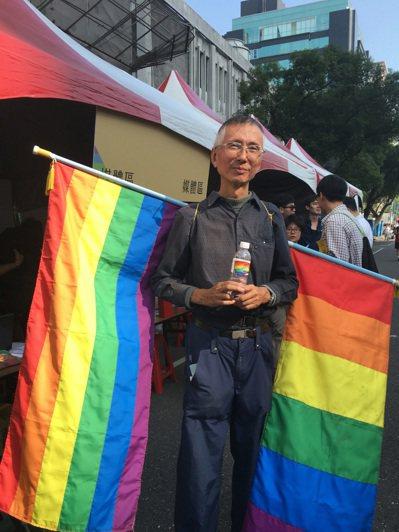 30年前提出要求同性婚姻的祁家威。 聯合報系資料照片