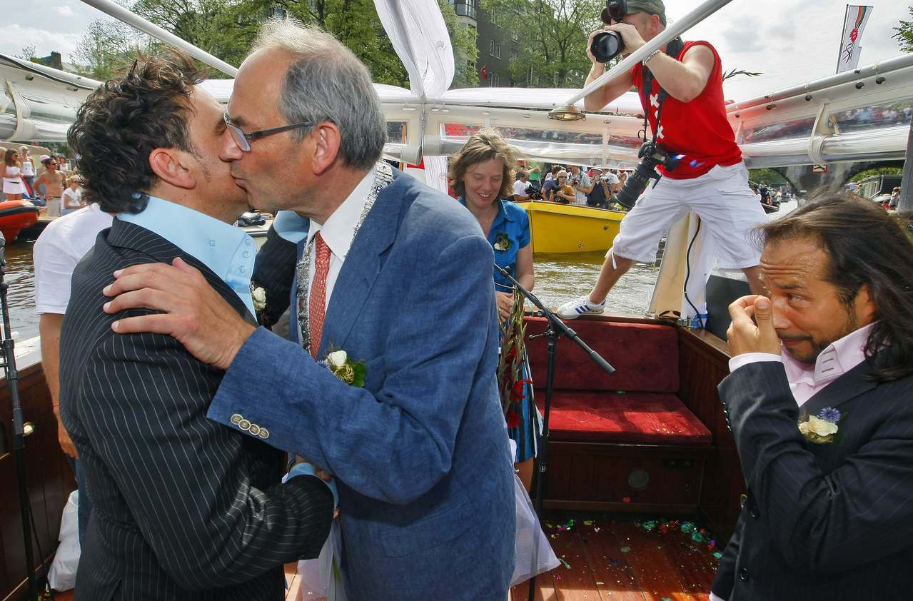 荷蘭是世界上第一個立法承認同性婚姻的國家。 (路透)