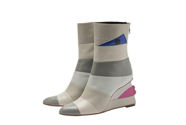 當代顏繪3短靴,售價40,800元。圖/ISSEY MIYAKE提供