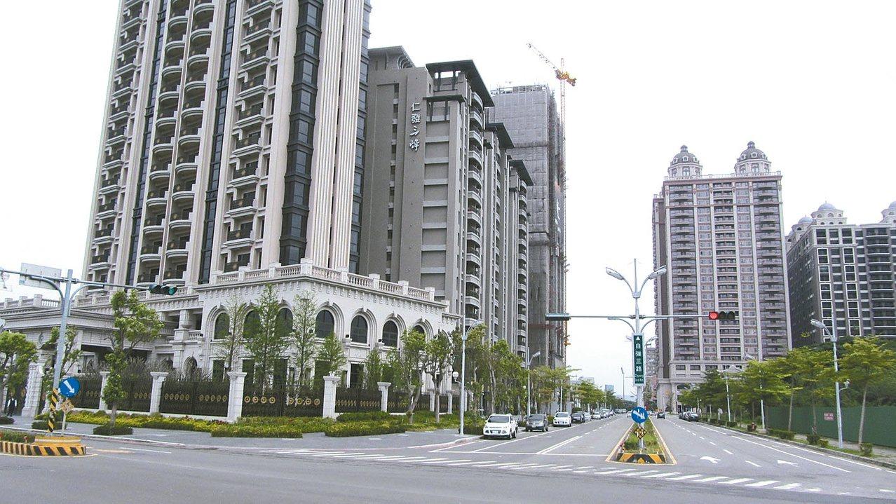 竹北市重劃區成為各地建商推案重點區域。 本報資料庫