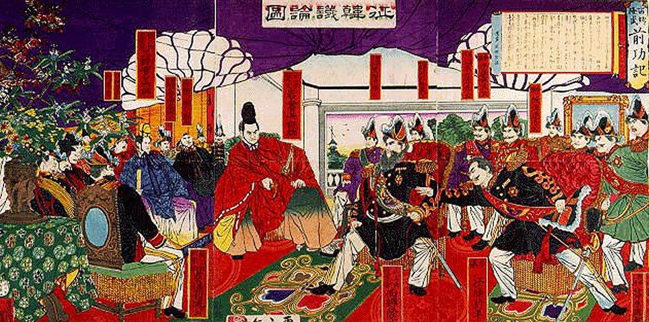 維新運動後日本國內「征韓論」高漲。 圖/維基共享