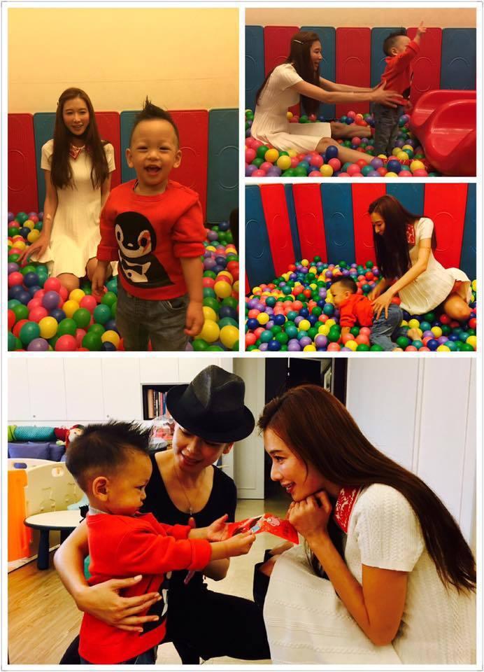 林志玲陪徐若瑄兒Dalton遊玩。圖/取自於臉書