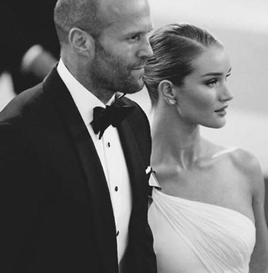蘿西杭亭頓懷特莉與傑森史塔森在一年前訂婚。圖/摘自Jason Statham I...