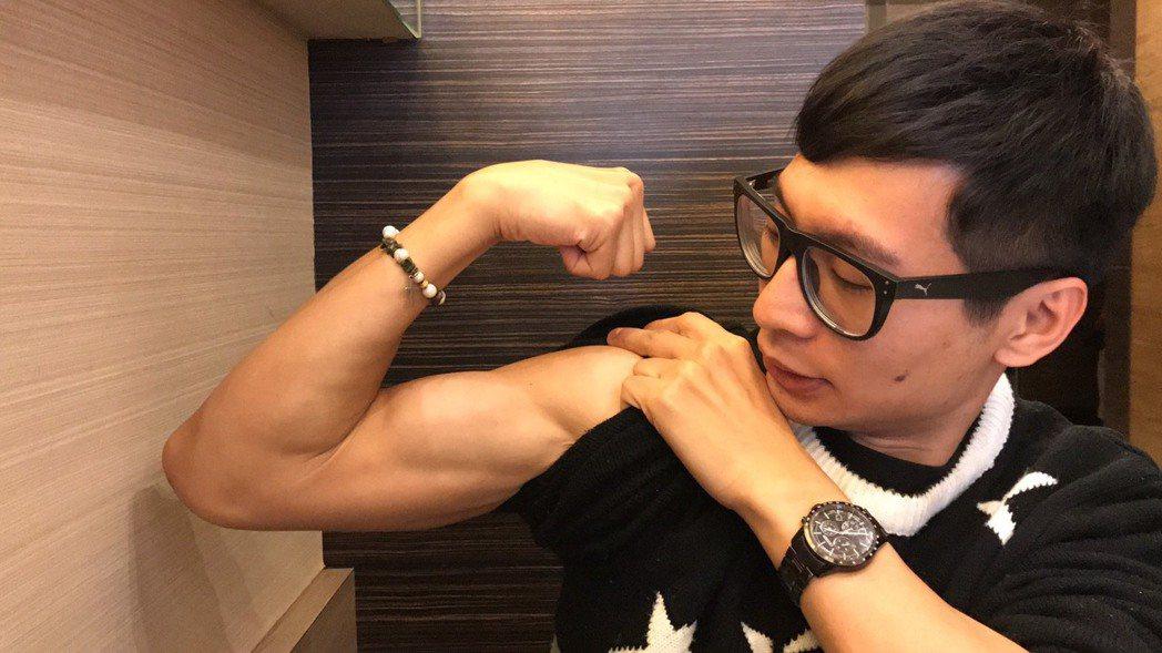 逸祥雖然當義務役,但對於體能沒少過鍛練。記者葉君遠/攝影