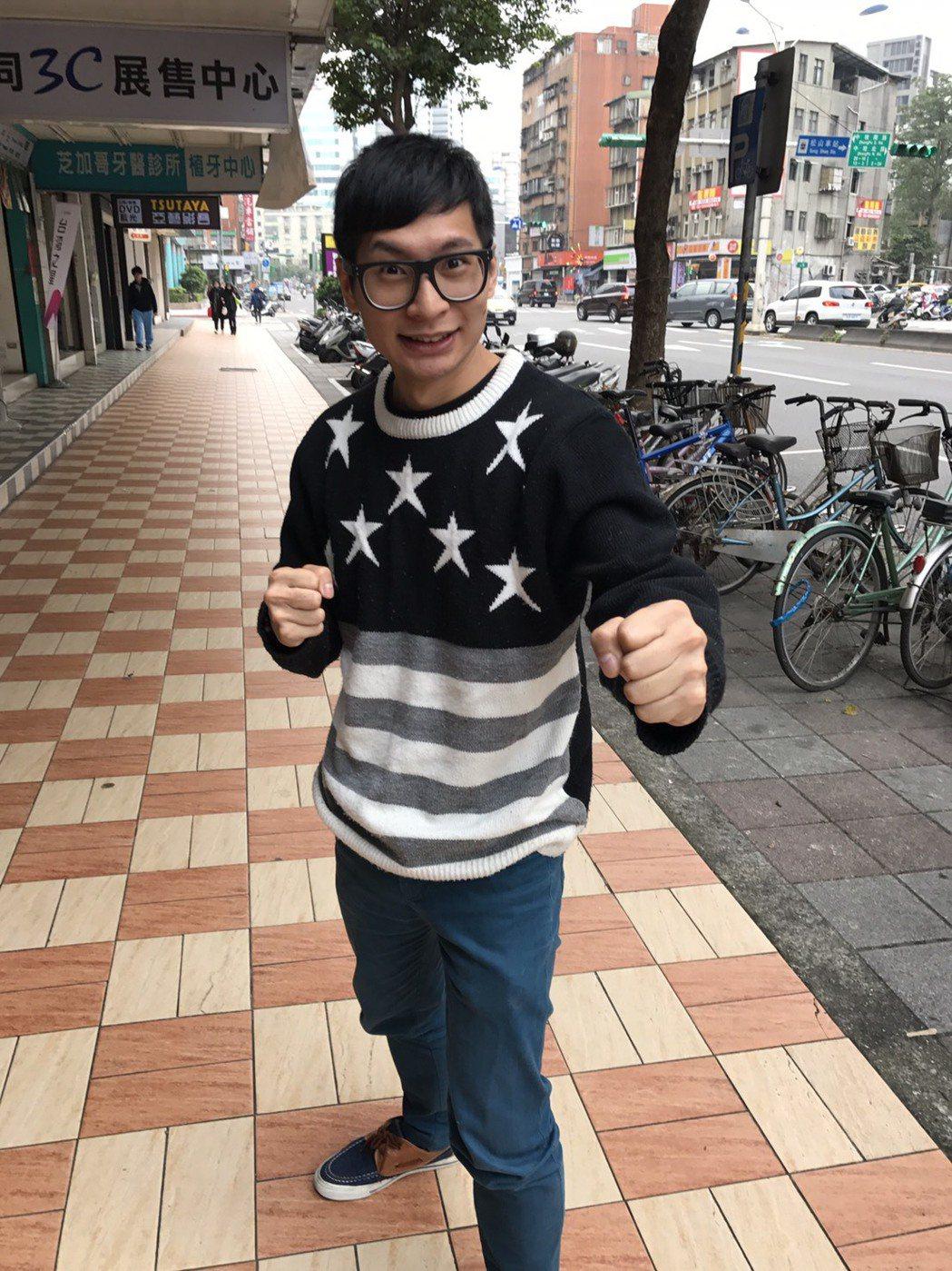 逸祥在軍中也沒少鍛練,他努力健身,體格比過去好很多。記者葉君遠/攝影