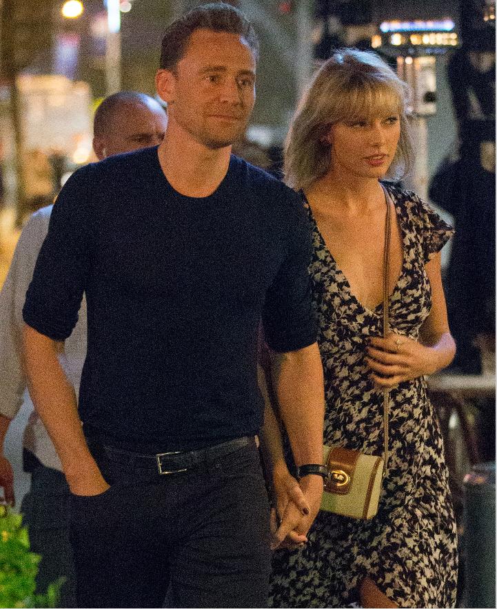 湯姆希德斯頓與泰勒絲的戀情引起全球矚目。圖/達志影像
