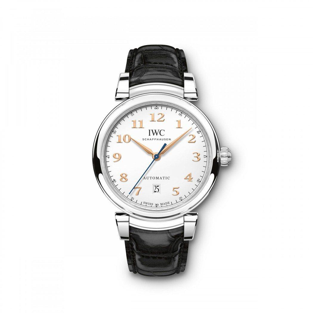 IWC達文西系列自動上鍊腕表,17萬8,000元。圖/IWC提供
